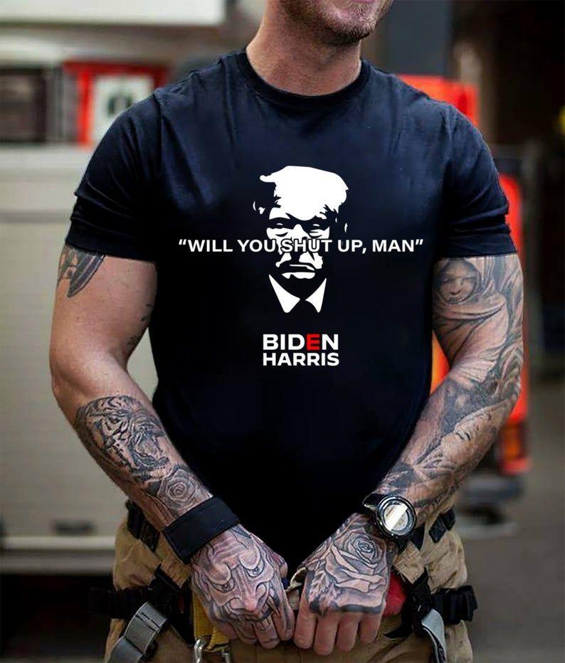 man T-Shirt Will you shut up